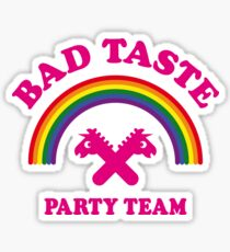 Bad Taste Party Team (Unicorn / Rainbow) Sticker