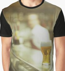 Glass of beer in Spanish tapas bar square Hasselblad medium format  c41 color film analogue photograph Graphic T-Shirt