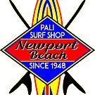 Surfer NEWPORT BEACH California Surfing Surfboard Ocean Beach Vacation by MyHandmadeSigns