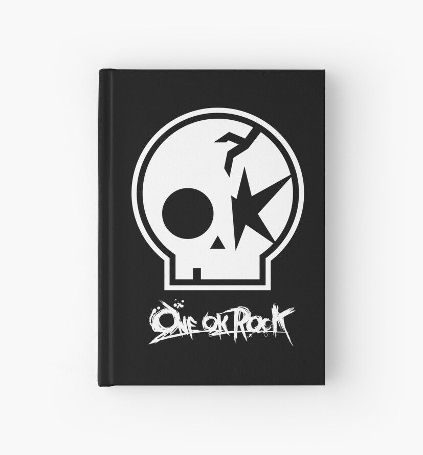 One Ok Rock Logo Blanco Hardcover Journals By Manu17 Redbubble