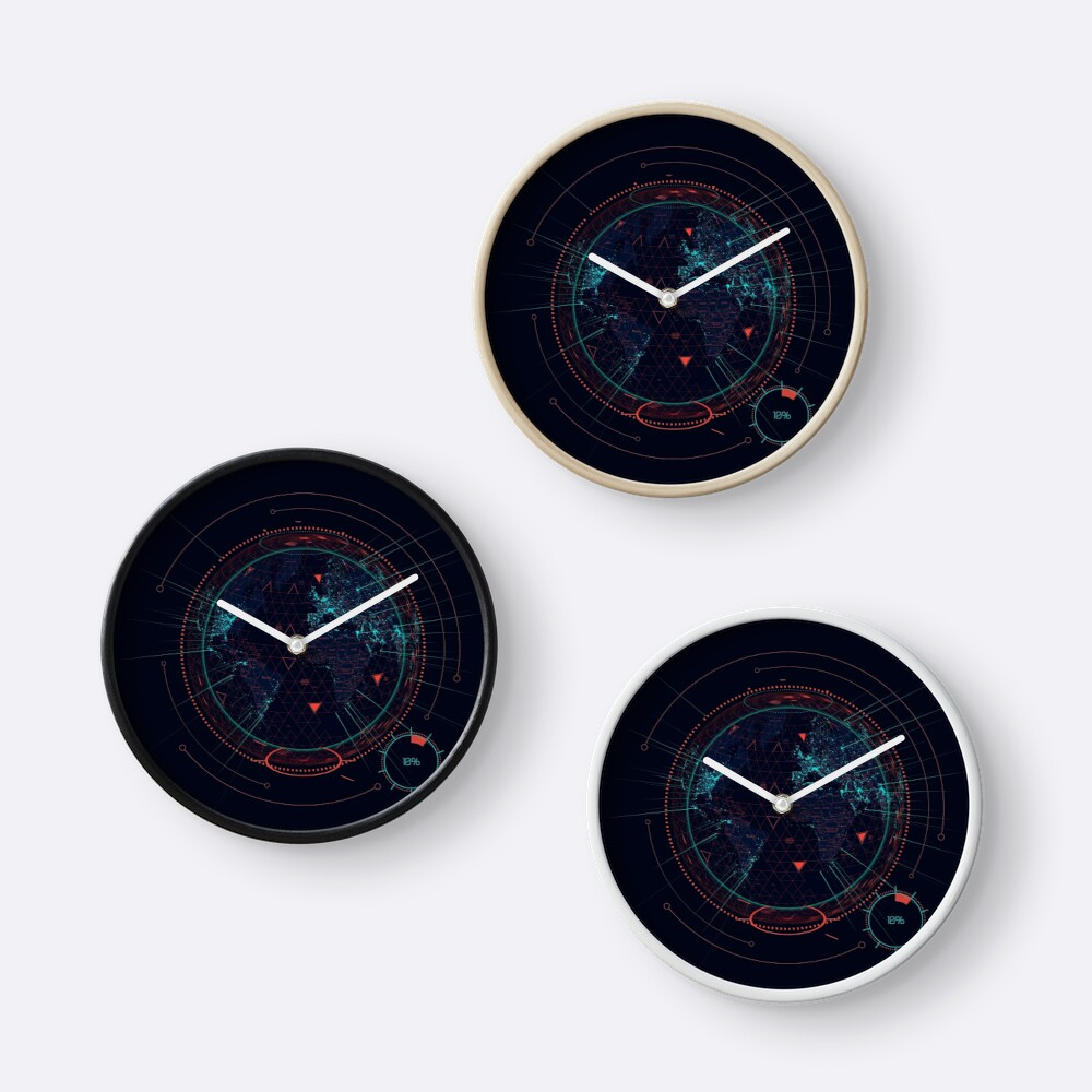 Sci fi futuristic interface clocks by maximgertsen redbubble sci fi futuristic interface clocks amipublicfo Image collections