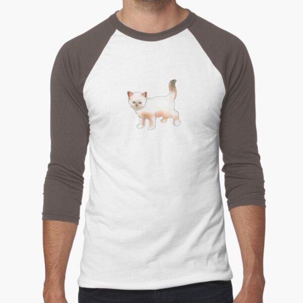 Cute Little Kitten Baseball ¾ Sleeve T-Shirt