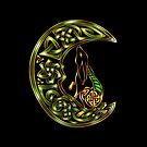 Black Celtic Hare by Rose Gerard