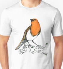 Fernando the Bird ( Erithacus rubecula ) Unisex T-Shirt