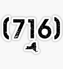 Area Code 716 New York Sticker