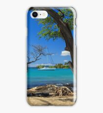 A Sailboat In Anaehoomalu Bay iPhone Case/Skin
