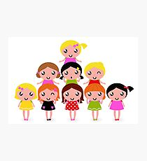 Cute school Kids edition 2016 / vintage girls Photographic Print