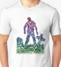 Zen Scary Dead Walking Zombie Graveyard Halloween T-Shirt
