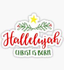 Christmas Hallelujah Sticker
