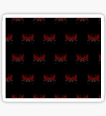 Guns and Roses Red (Pattern 2) Sticker