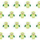 Green & Green Owl (Pattern) by Adamzworld