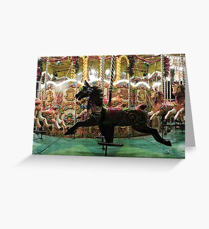 Carousel Black Beauty Greeting Card