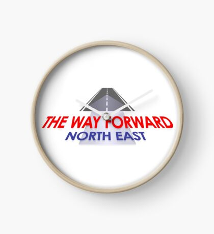 Way Forward North East Logo Clock