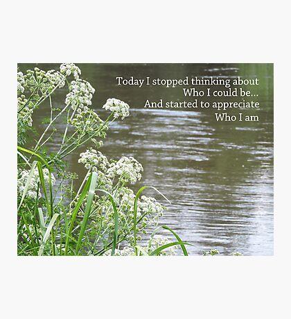Appreciating Me Photographic Print