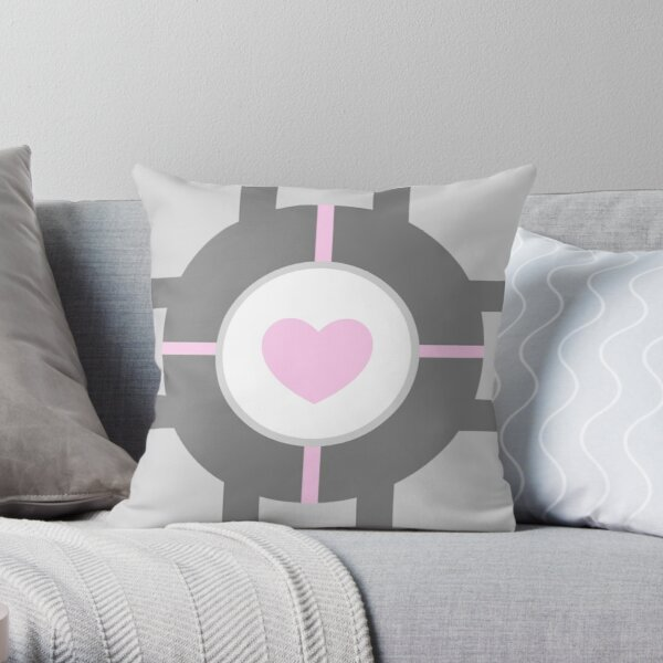 Companion Cube Throw Pillow