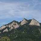 Mountain in Poland from the Dunajec river by Ilan Cohen
