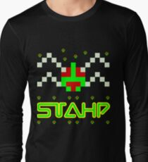 STAHP, 80s, what are you doing, meme, dank meme, funny meme, video games, arcade, centipede Long Sleeve T-Shirt