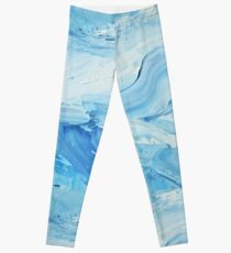 Blue Impasto Leggings