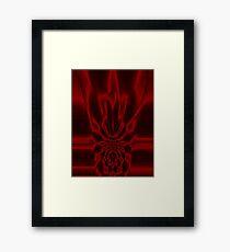 Crimson Flare Framed Print