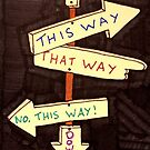 This way that way up down sign by cocodesigns