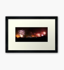 Lewes Bonfire Panorama Framed Print