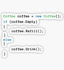 Coffee code Sticker