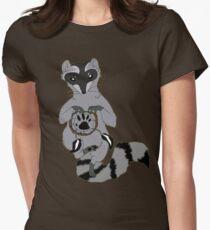 Raccoon dream catcher Womens Fitted T-Shirt
