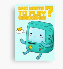BMO Adventure Time - Who wants to play videogames? Canvas Print