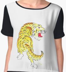 Prowling Tiger Chiffon Top