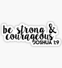 sei stark und mutig joshua 1: 9 Sticker