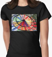 Wind Wheel Womens Fitted T-Shirt