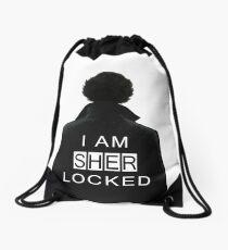 I am SHERlocked Drawstring Bag