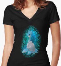 Pokemon Lapras Women's Fitted V-Neck T-Shirt