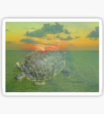 Turtle in Water.... Sticker