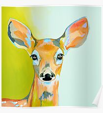 Wild Deer - Colourful Canadian Painting Poster