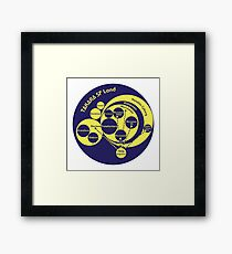 A Phylogeny of Robots: Blue-Yellow Framed Print