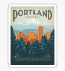 Pegatina Portland, la ciudad de las rosas.