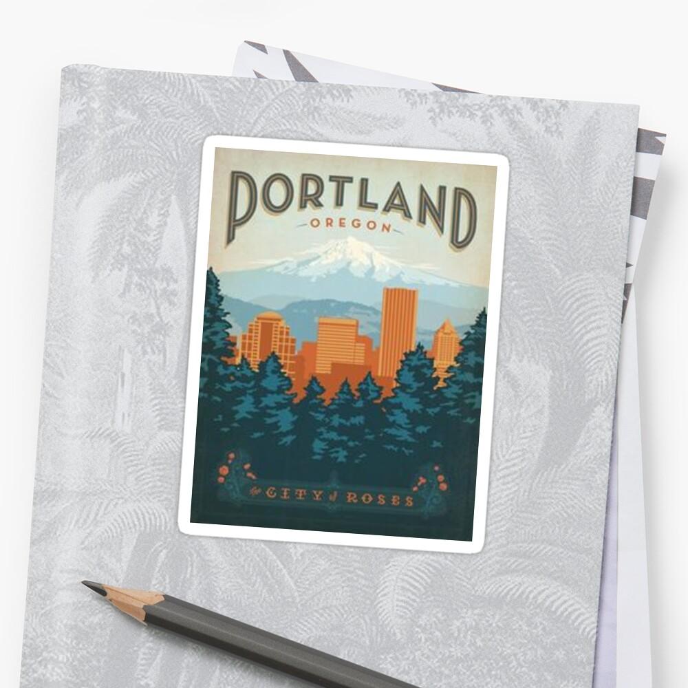 Portland, die Stadt der Rosen Sticker
