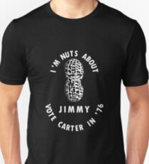 I'm Nuts About Jimmy - Carter 1976 Election Poster T-Shirt