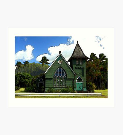 The Old Church In Hanalei Art Print