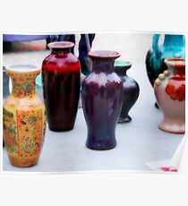 Colorful Vases Poster