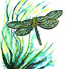 Echoes of Green - Dragonfly by Linda Callaghan