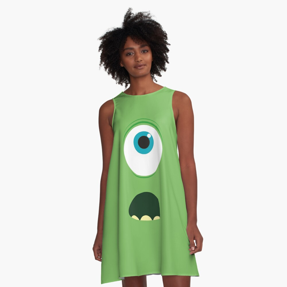 Monster mike wazowski A-Line Dress Front