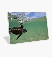 Baby surfing ninja turtle Laptop Skin