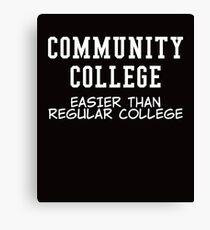 community college white  Canvas Print