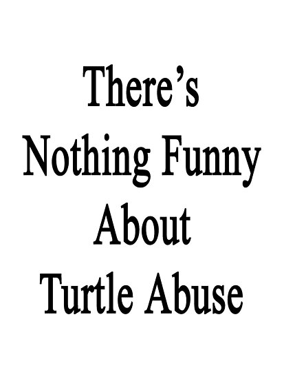 There's Nothing Funny About Turtle Abuse  by supernova23
