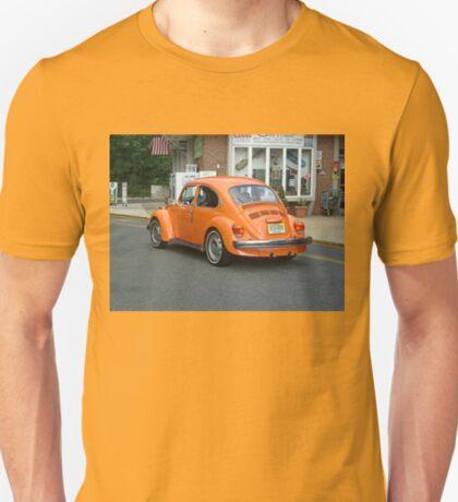 Classic VW Bug in Bright Orange T-Shirt