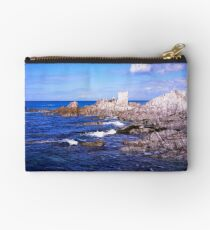 Devon coast by lee bay Studio Pouch
