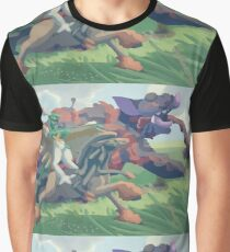 Prince Decidueye Ashitaka & The Demon Grumpig Graphic T-Shirt