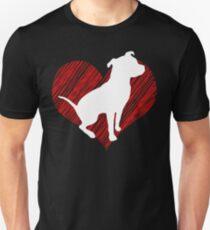 Gift for Pitbull lovers I love Pittbull Unisex T-Shirt